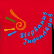 Motiv ~ Jugendhaus Teamer T-Shirt Name vorne und Logo hinten