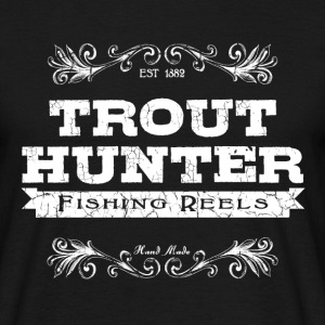 trout hunter blanc Tee shirts - T-shirt Homme