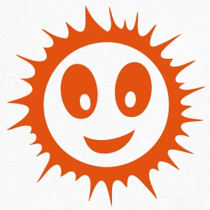 soleil sun smiley sourire 71112 Tee shirts - T-shirt Homme col V