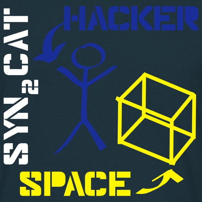 hacker + space shirt (red edition)
