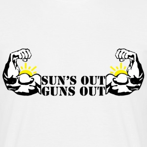 Suns Out, Guns Out! - Men's T-Shirt