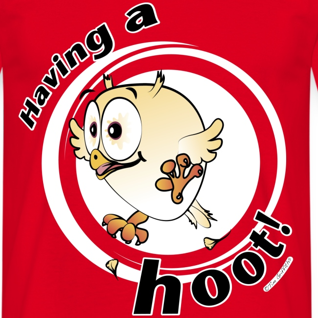 Having a hoot! (red)