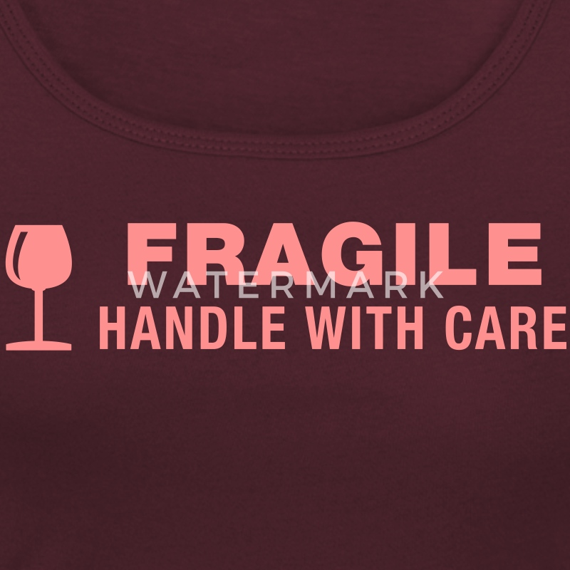 Fragile - Handle with care - T-shirt col rond U Femme