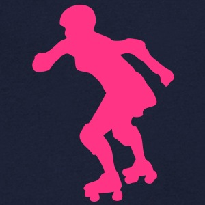 roller derby femme silhouette1 Tee shirts - T-shirt Homme col V