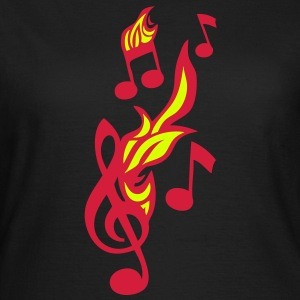 note musique flamme cle sol fire music1 Tee shirts - T-shirt Femme