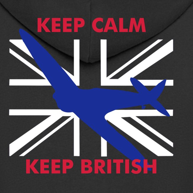 Keep Calm Keep British Spitfire and Union Flag