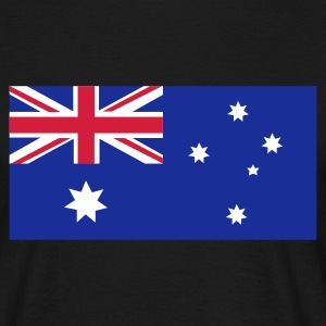 Black Australian Flag Men's Tees - Men's T-Shirt