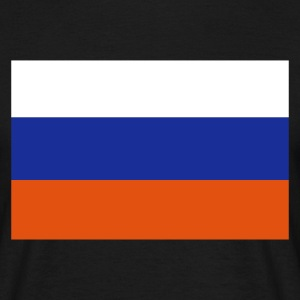 Black Russian Flag Men's Tees - Men's T-Shirt
