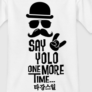 Like a say you only live once boss moustache Shirts - Kinderen T-shirt