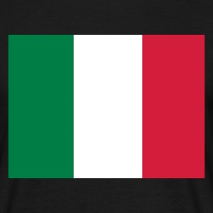 Black Italian Flag Men's Tees - Men's T-Shirt