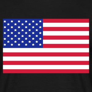 Black American Flag Men's Tees - Men's T-Shirt