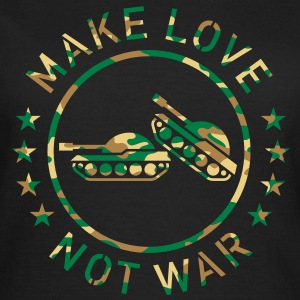 Make Love Not War (Camouflage) T-Shirt - Frauen T-Shirt