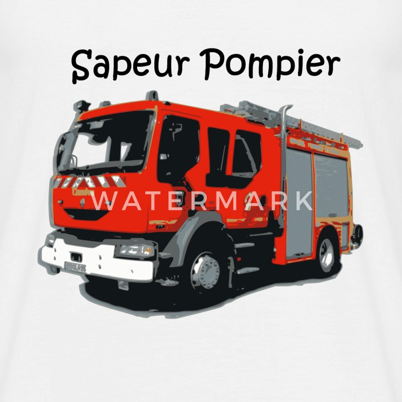 T shirt camion pompier spreadshirt - Image camion pompier ...
