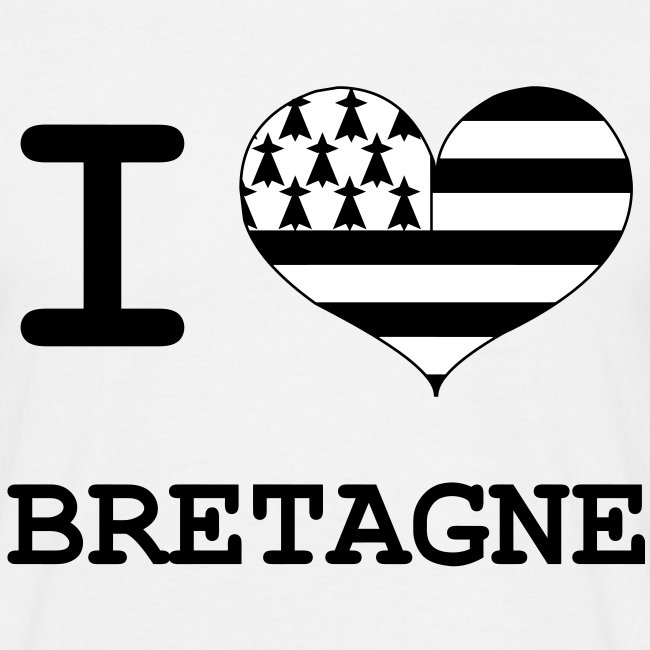 T-Shirt I love Bretagne Homme