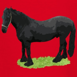 horse black Shirts - Kids' T-Shirt