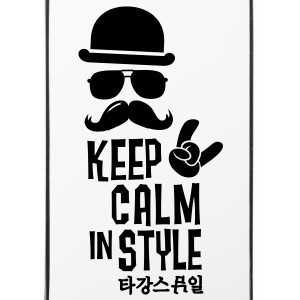 Like a keep calm in style moustache boss t-shirts Other - iPhone 4/4s Hard Case