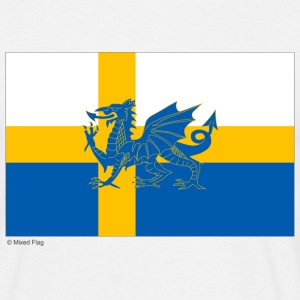 White Sweden Wales Men's Tees - Men's T-Shirt