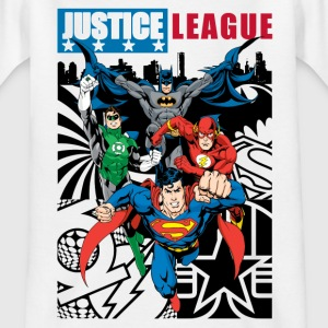Justice League Comic Cover T-Shirt für Kinder  - Kinder T-Shirt