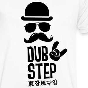 Like a dubstep electro dance music moustache boss Tee shirts - T-shirt Homme col V