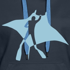 manta ray fish scuba diving dive diver ocean Hoodies & Sweatshirts - Women's Premium Hoodie