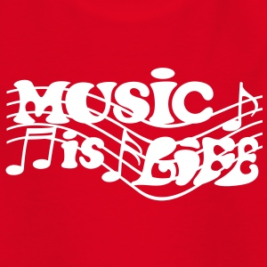 Music is Life Musik Noten Musiker T-Shirts - Kinder T-Shirt