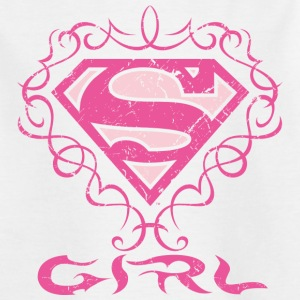 Superman S-Shield Girl T-Shirt für Kinder  - Kinder T-Shirt