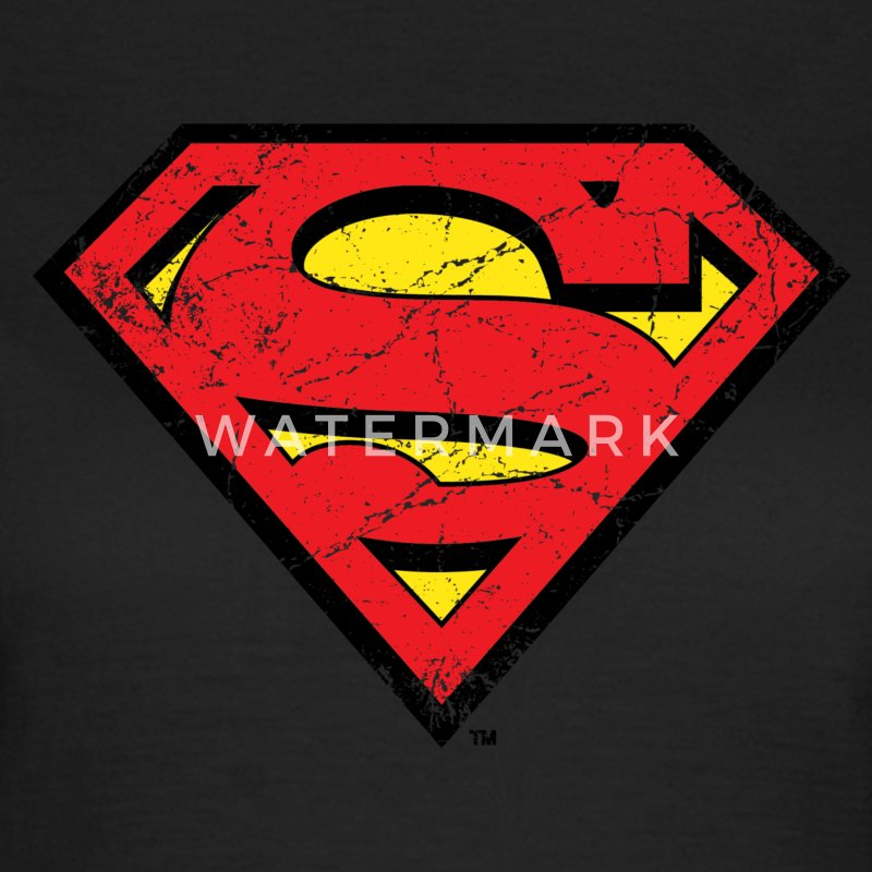 Superman S-Shield Used Look 1 dame- T-shirt - Dame-T-shirt