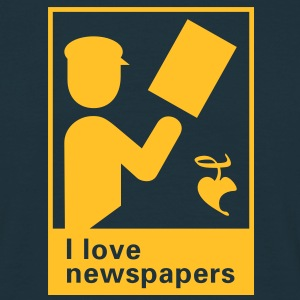 I love newspapers T-Shirts - Männer T-Shirt