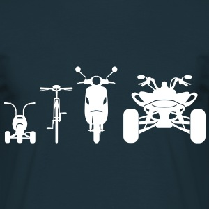 Motorcycle ATV Front Evolution  T-Shirts - Men's T-Shirt