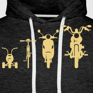 Evolution avant Chopper moto  Sweat-shirts - Sweat-shirt à capuche Premium pour hommes