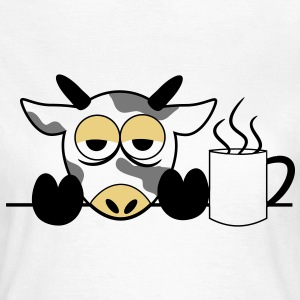 Mr. moo cow yawn tired Monday cows 3 c. T-Shirts - Women's T-Shirt