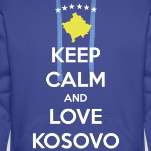 KEEP CALM AND LOVE KOSOVO Pullover & Hoodies - Männer Premium Hoodie
