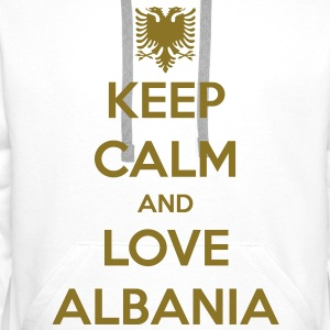 KEEP CALM AND LOVE ALBANIA Tröjor - Premiumluvtröja herr