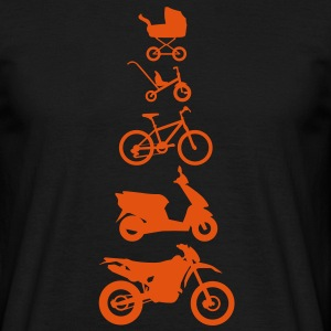 Motorcycle Enduro Evolution Voorzijde  T-shirts - Mannen T-shirt
