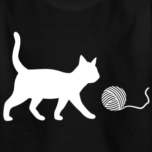 Cat, Katze, Kater Katzen Spielen Wolle Game Play T-Shirts - Kinder T-Shirt
