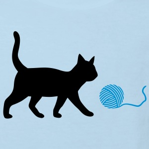 cute cat, kitten with ball of wool Shirts - Kids' Organic T-shirt