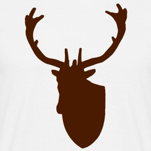 Stag Deer Head Taxidermy - Men's T-Shirt