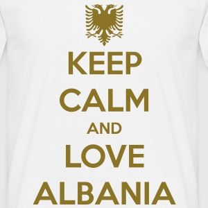 KEEP CALM AND LOVE ALBANIA Magliette - Maglietta da uomo