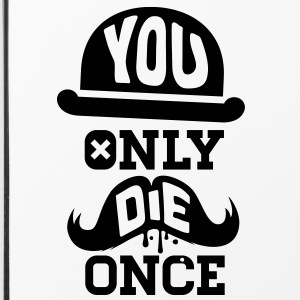 You only die once evolution geek quote moustache Other - iPhone 4/4s Hard Case
