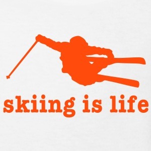 skiing is life i T-shirts - Organic børne shirt
