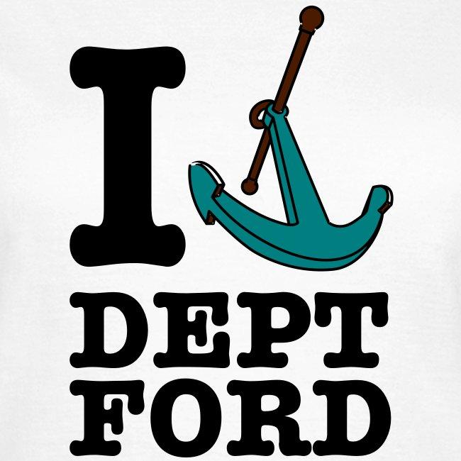 I Love Deptford Womens Tee