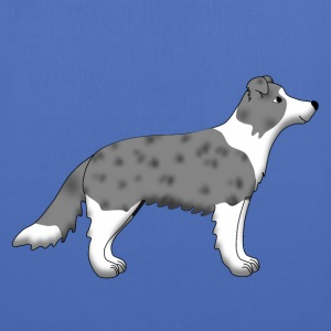 Border Collie blue merle Sacs - Tote Bag