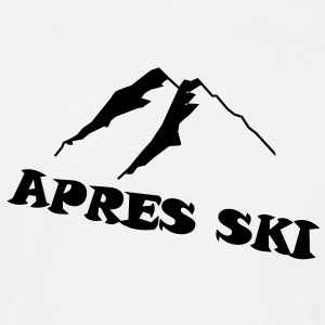 Apres Ski, SKI, driving, deep snow, telemark, part - Men's T-Shirt