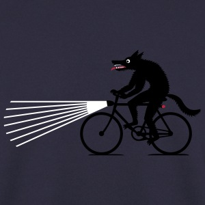 Navy Wolf with bike Hoodies & Sweatshirts - Men's Sweatshirt