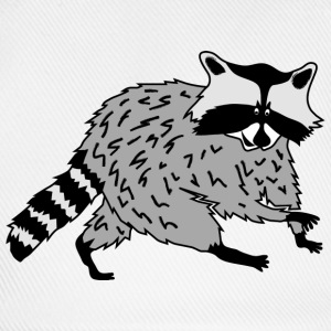 raccoon coon cute animal forest wild Caps & Hats - Baseball Cap