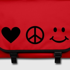 BE HAPPY - Love Peace Happiness Heart Sign Smiley Bolsas - Bolso de bandolera