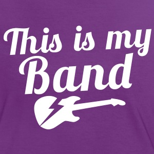 This is my BAND with electric guitar T-Shirts - Women's Ringer T-Shirt