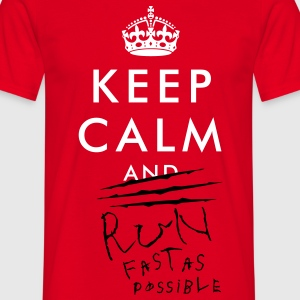 Keep Calm and RUN 02 - Männer T-Shirt