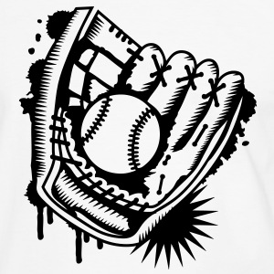 A baseball glove with a baseball  T-Shirts - Men's Ringer Shirt