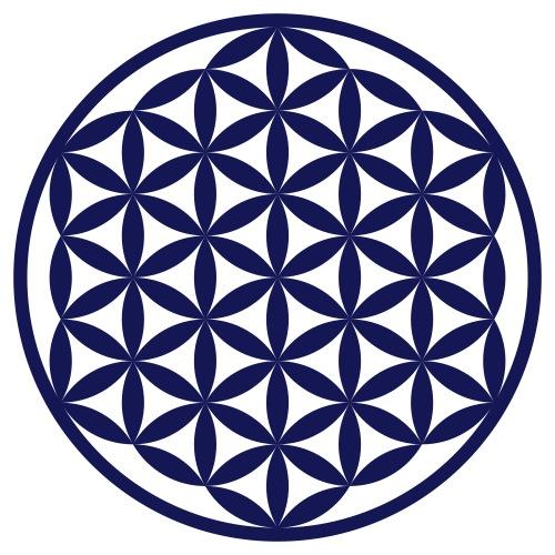 Blume des Lebens verbunden HeiligeGeometrie orange